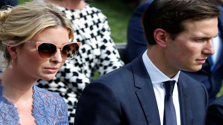 """ترامب """"يطرد"""" إيفانكا وزوجها في البيت الأبيض"""