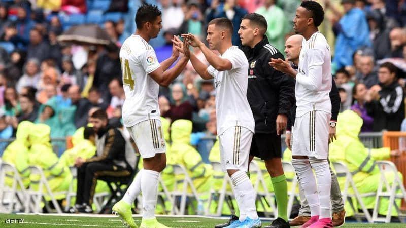 ريال مدريد يحقق فوزا صعبا بمشاركة هازارد الأولى