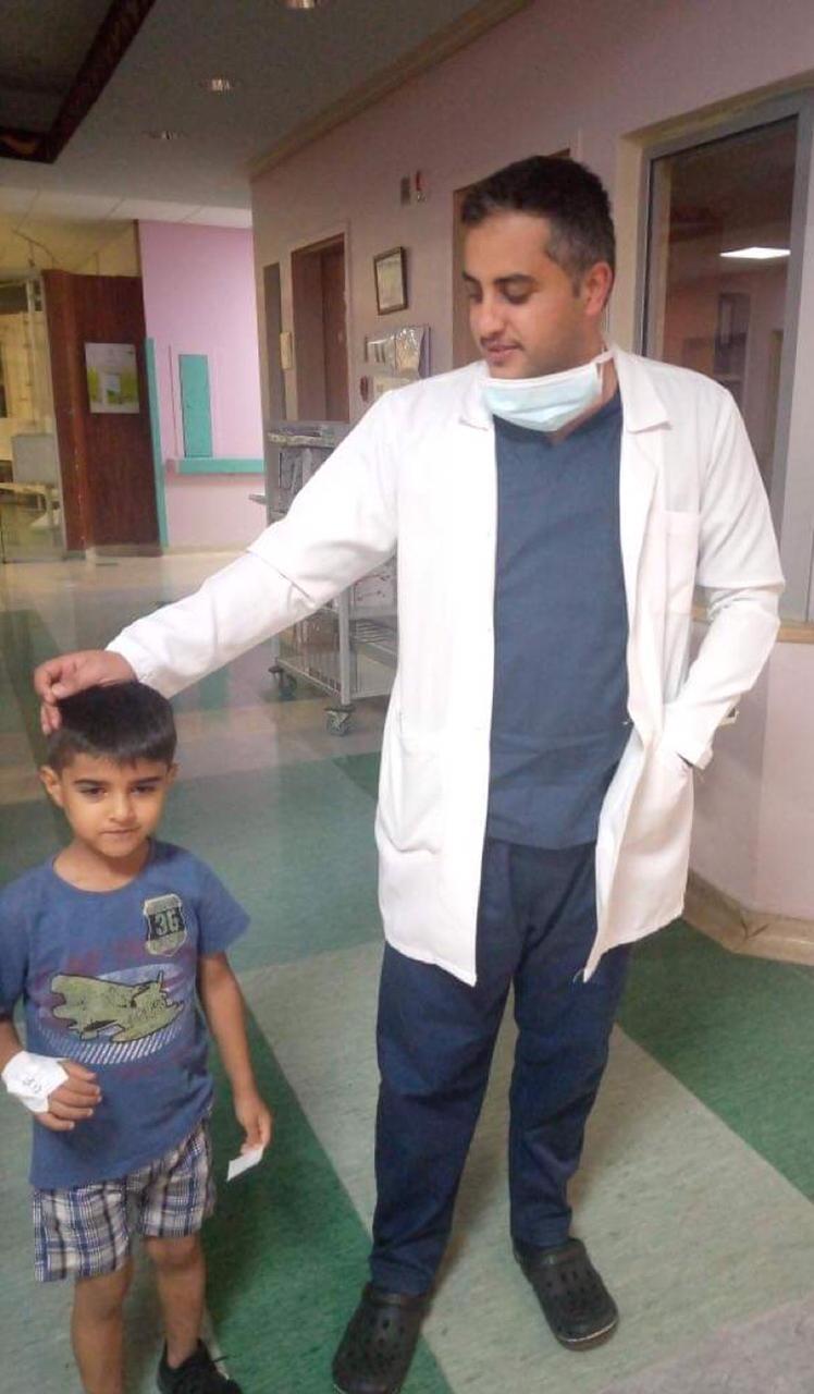 شكر وتقدير  للطبيب الملازم أول حاتم الحديدي