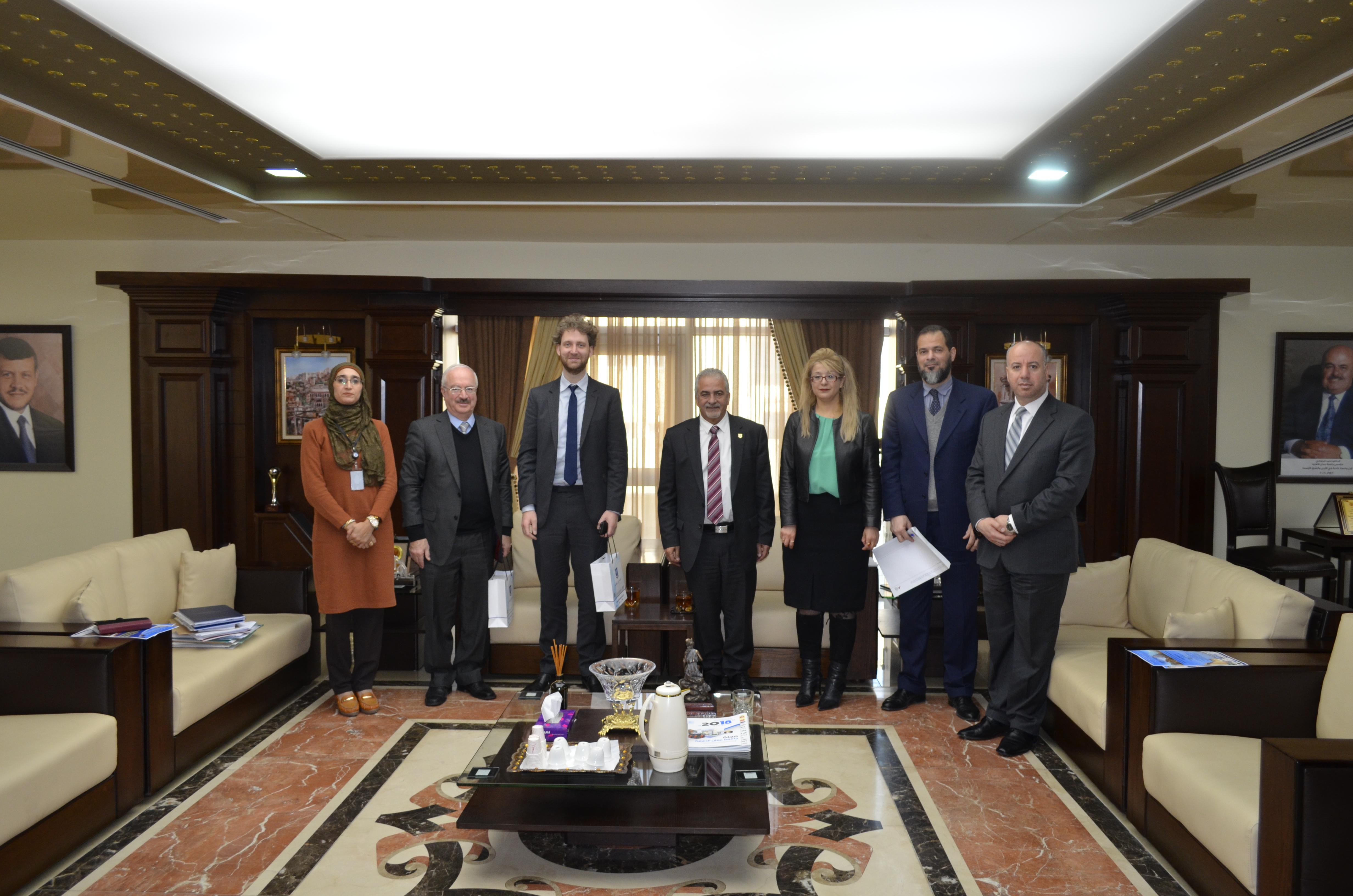 جامعة عمان الاهلية تستقبل الملحق الثقافي الالماني ورئيس نادي الهمبولدت (الالماني-الاردني)