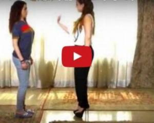 بالفيديو : شاهدوا كندة علّوش تعلم مي عز الدين الرقص!