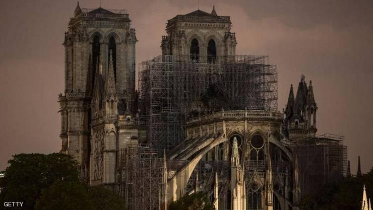 بعد الكارثة ..  'مصدر غير متوقع' لترميم كاتدرائية نوتردام