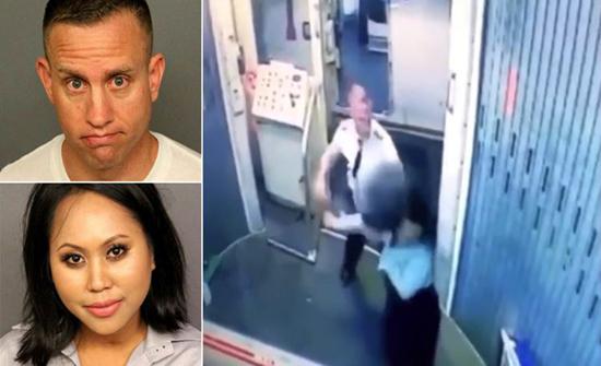 بالفيديو : طرد طيّار أمريكي ومساعدته من العمل بسبب مشاجرة بينهما
