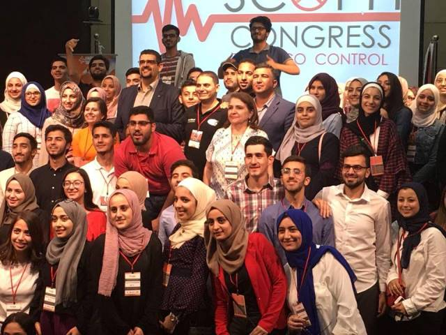 """بالصور ..   مشاركة مميزة   """" للشرق الأوسط """"  في مؤتمر الصحة الأول لمكافحة التدخين"""