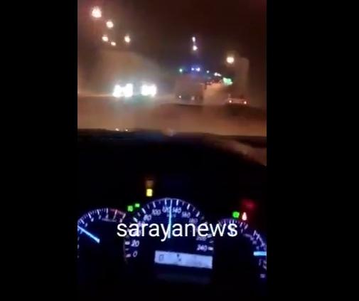 """بالفيديو ..  امام مدير السير:  """"قلاب"""" يقود بسرعة 140 كلم/ساعة في شوارع عمان ويقوم بتجاوزات خطيرة"""