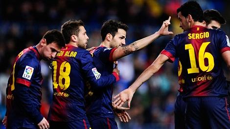 96.5 بالمئة نسبة فوز برشلونة