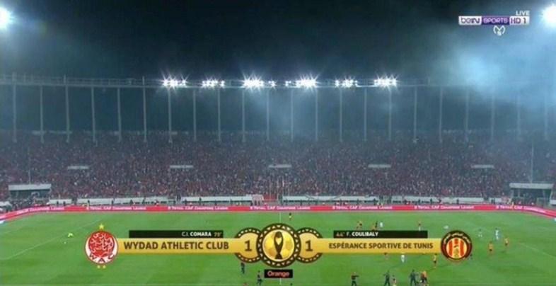 تعادل الوداد البيضاوي والترجي في ذهاب لنهائي دوري أبطال أفريقيا