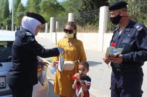 """بالصور ..  شرطة شمال عمان تطلق مبادرة """"عوافي"""" للتوعية بمعايير السلامة من فيروس كورونا"""