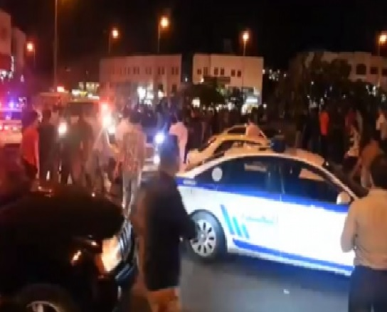 """إربد : العشرات يتجمهرون في """"خرجا"""" للمطالبة بعدم ملاحقتهم """"أمنياً"""""""
