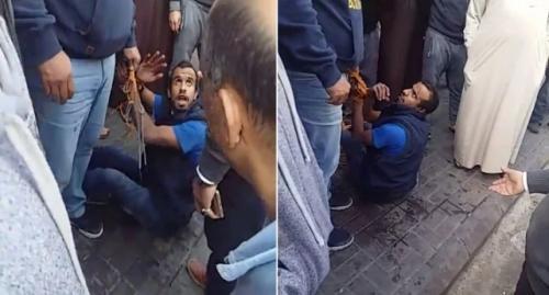 """بالفيديو: مصريون بالسعودية يضبطون """"لص"""" حاول سرقة سيارة بداخلها طفل (فيديو)"""