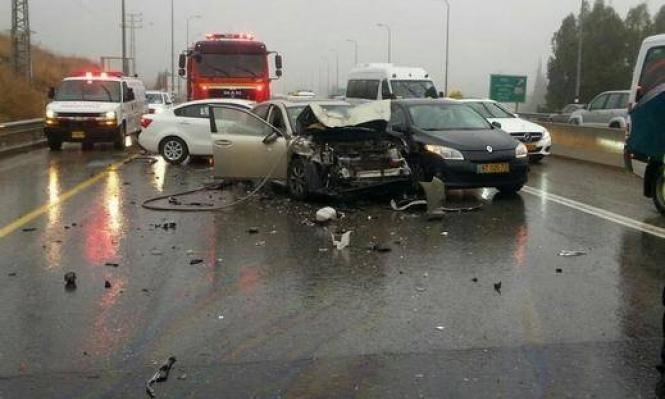 إصابة (3) أشخاص  اثر حادث تصادم في محافظة  العقبة