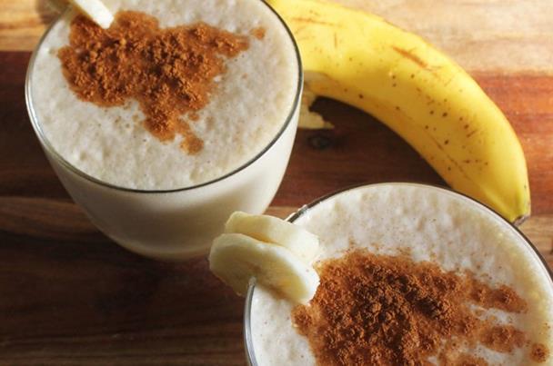 عصير الموز والقرفة الدايت