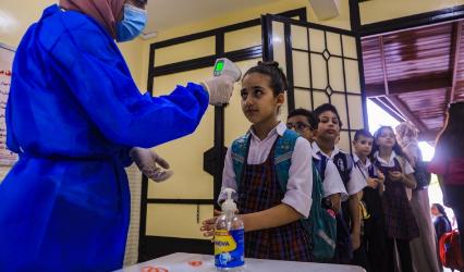 تحويل 27 مدرسة لتتعليم عن بعد وارتفاع أعداد الطلبة المصابين الى 186