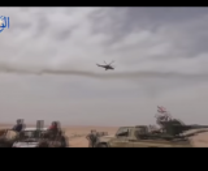 بالفيديو.. لحظة قصف المروحيات الروسية مواقعاً بالقرب من الحدود الاردنية - السورية