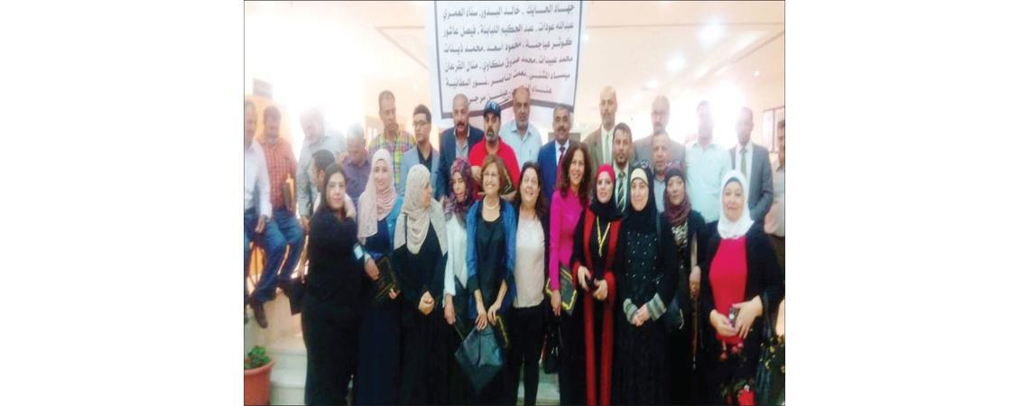 افتتاح المعرض السنوي المشترك «لمسات معلم 2» في إربد