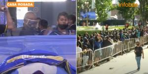 شاهدوا بالفيديو  ..  جثمان مارادونا يُسجى في القصر الرئاسي بالأرجنتين للنظرة الأخيرة  ..  بث مباشر