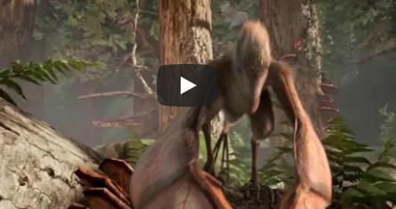 بالفيديو  .. لن تصدق  .. اكتشاف بقايا ديناصور غريب بأجنحة مثل الخفافيش