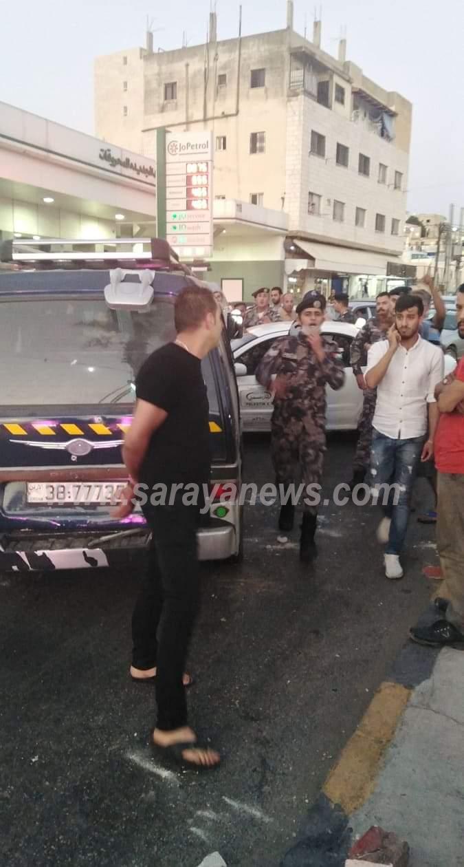 بالصور ..  إصابة (7) اشخاص اثر حادث تصادم في اربد