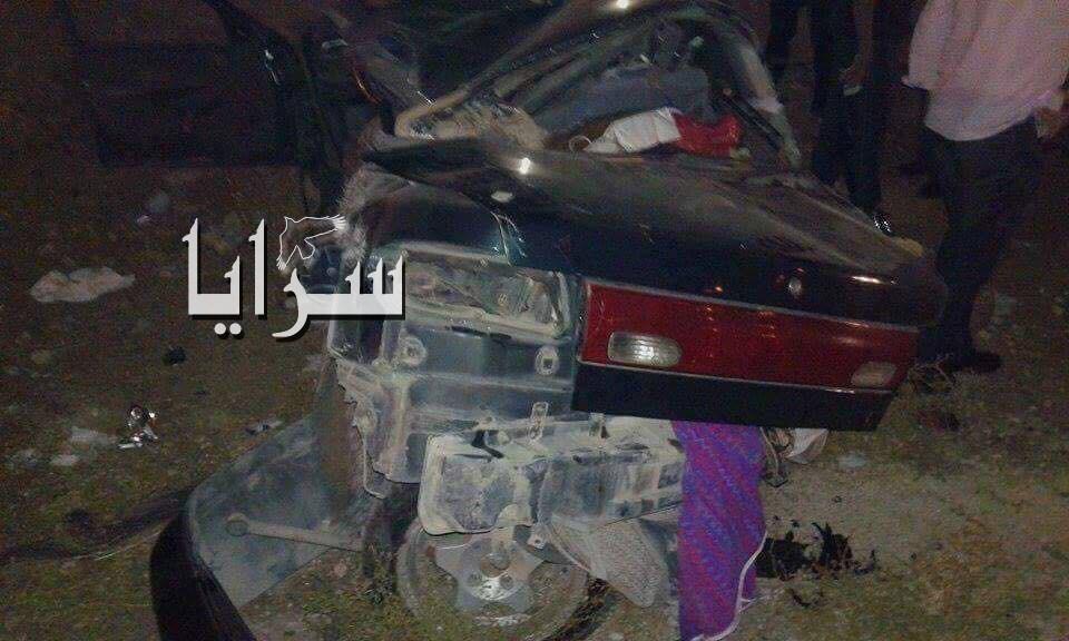 وفاة اربعيني اثر حادث تصادم مروع على جسر النعيمة في اربد  .. صور