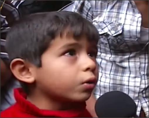 بالفيديو .. طفل يشكي ظلم الأحتلال