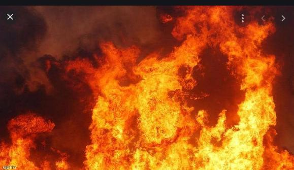 حريق فرشة اسفنجية  داخل نظارة المستشفى الكرك الحكومي