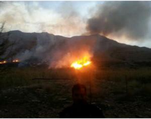 حريق كبير في الطفيلة