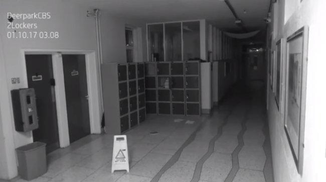 بالفيديو ..  أشياء مرعبة التقطتها كاميرات المراقبة في احدى المدارس