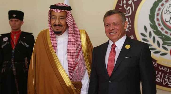 خادم الحرمين الشريفين يغادر عمان