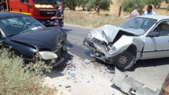 (5) اصابات بحادث تصادم في الكرك