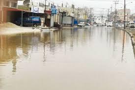 ارتفاع منسوب المياه في محاور الطرق الرئيسية والأنفاق