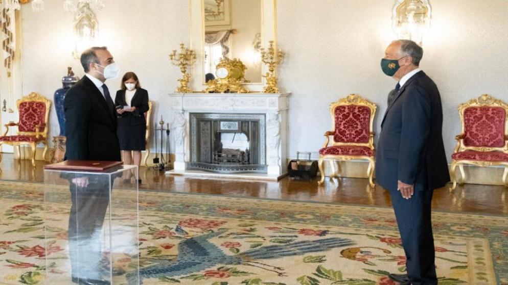 السفير الأردني في سويسرا يقدم أوراق اعتماده للرئيس البرتغالي
