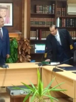 المحامي زياد المجالي يؤدي اليمين القانونية