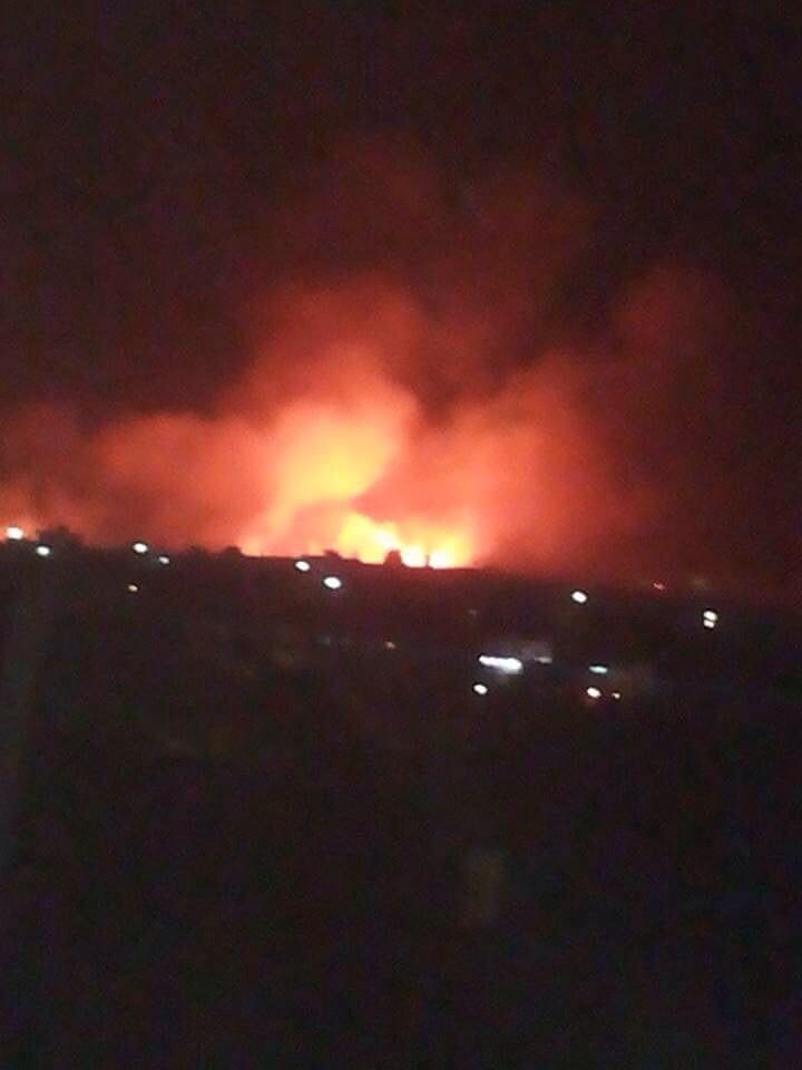 مادبا: حريق يلتهم 250 دونم من محاصيل زراعيه