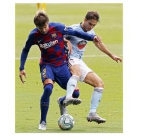 بيكيه يخالف قواعد برشلونة