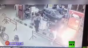 قتلى وجرحى بانفجار دراجة بمحطة وقود بايران - فيديو
