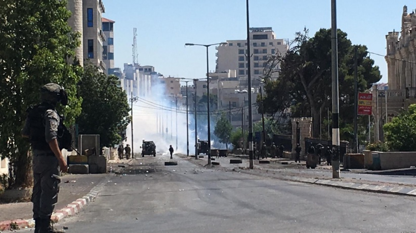 إصابة 14 مواطن فلسطيني في المواجهات المستمرة في بيت لحم