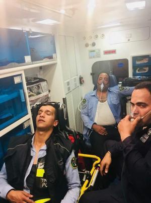 إصابة  (3) من رجال الأمن العام أثناء إخلاء فندق تعرض للحريق في العقبه
