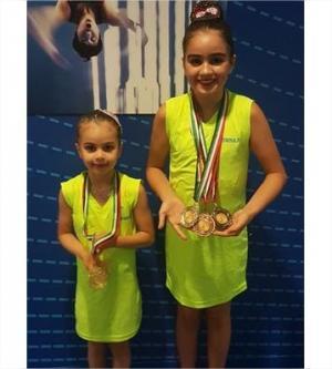 """الشقيقتان ارشيدات تحرزان 4 ميداليات بمسابقة """"الوصل"""" في دبي"""