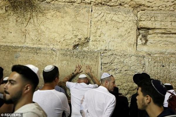 بالفيديو  ..  أفعى تخرج من حائط البراق اثناء صلاة اليهود اثارت الرعب في قلوبهم
