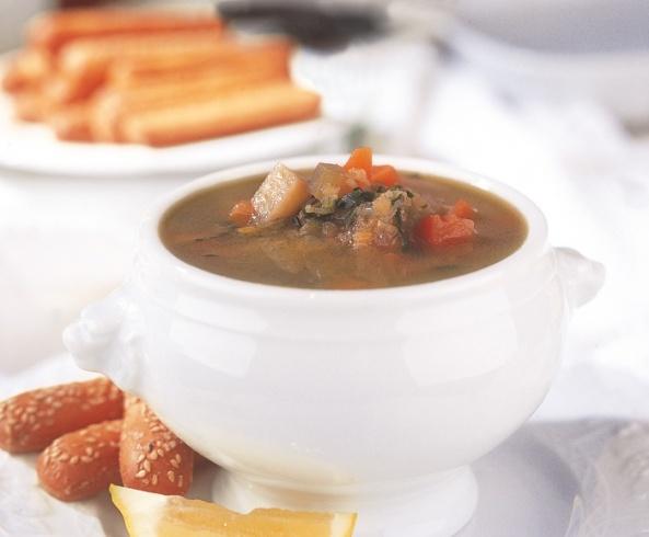 حساء العدس والخضار