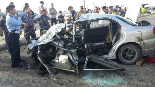 اصابة 11 شخصاً بحادث تصادم في معان