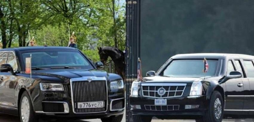 """""""سيارتي أقوى من سيارتك"""" ..  هذا ما يميّز """"كارتيج"""" بوتين عن """"وحش"""" ترامب"""
