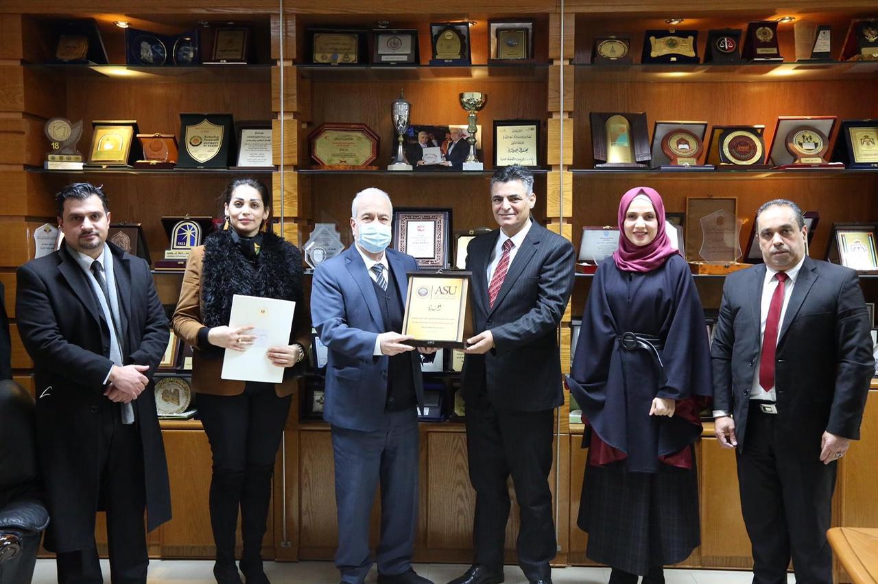 جامعة العلوم التطبيقية الخاصة تستقبل وفداً من سفارة الجمهورية العربية السورية ..