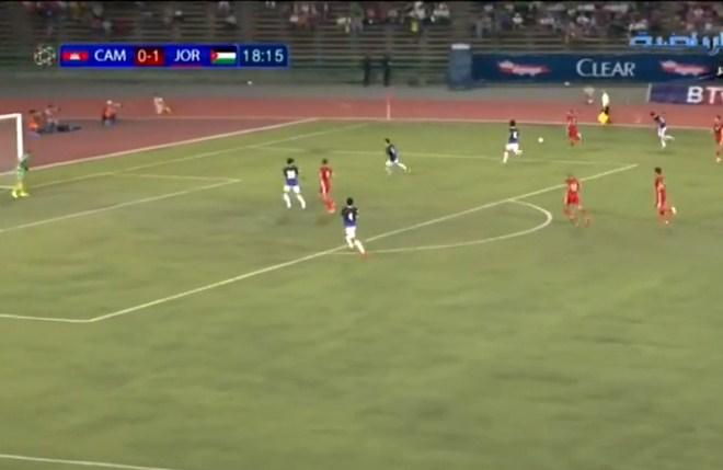 بالفيديو  ..  البث المباشر لمباراة الاردن و كمبوديا (1-0)
