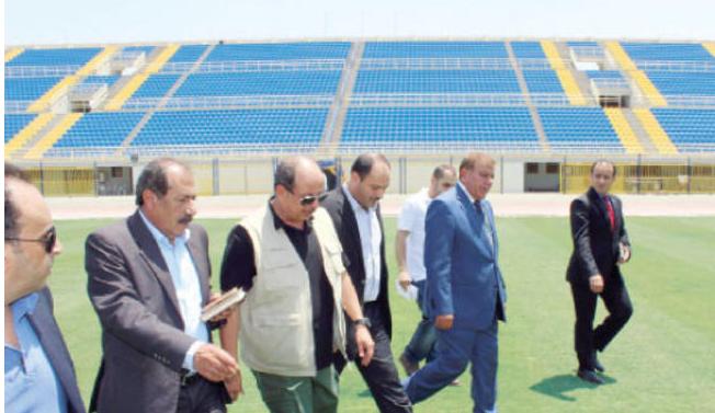وزير الشباب يزور المنشآت الرياضية في محافظة إربد