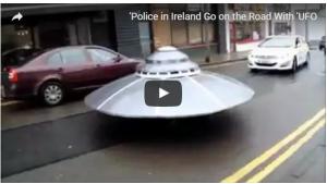 بالفيديو: مركبة فضائية تجوب الشوارع تحت حراسة الشرطة