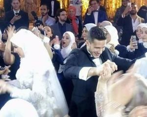 رمضان صبحي يحتفل بزفافه على حبببة اكرامي