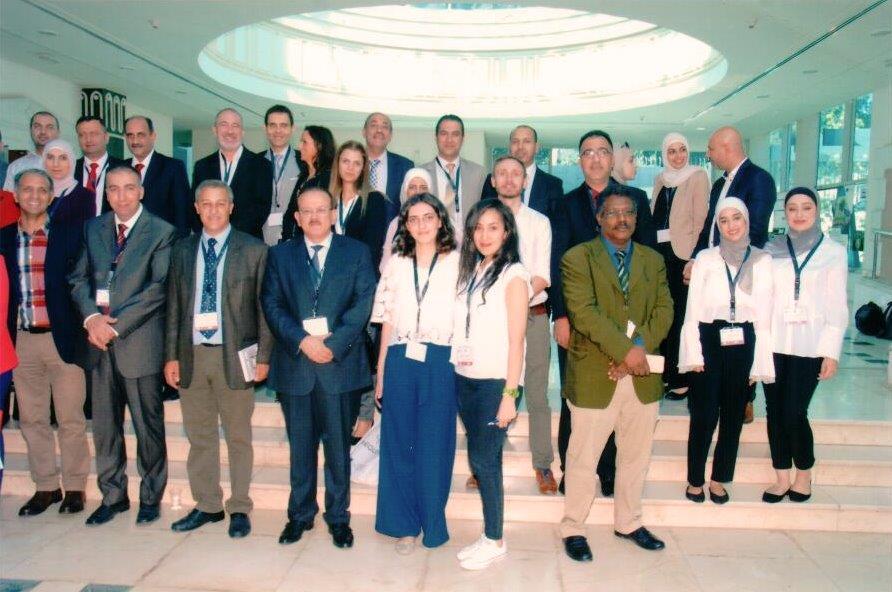 """بالصور ..  """"عمان العربية"""" تشارك في مؤتمر تحسين جودة التعليم العالي بإستخدام تقنيات المحمول"""