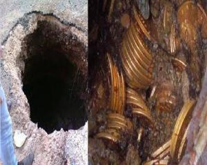 البلقاء :  القبض على (8) اشخاص حفروا مغارة داخل منزل بطول (5) أمتار للبحث عن دفائن الذهب