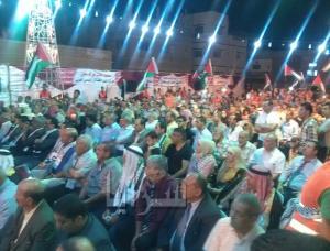 بالصور .. الزرقاء : غزة تنتصر والإحتلال يمنع المطران حنا من الحضور